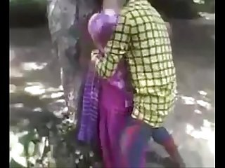 Desi teen enjoying fucking in jungle
