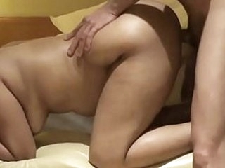 Asian babe fucked doggy style