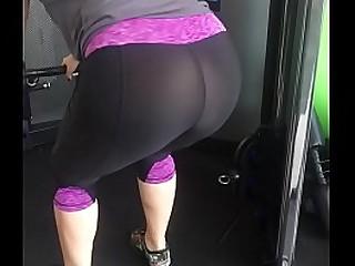 Gym tights nice ass
