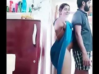 Swathi naidu romance with boyfriend while cooking
