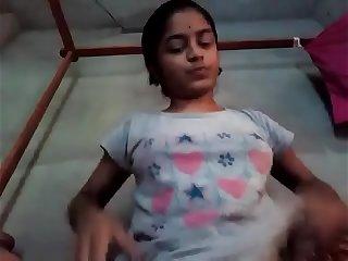 Indian Tamil girl cucumber masturbation