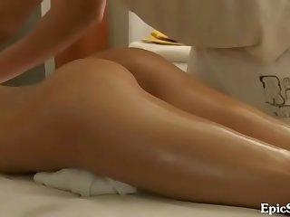 Indian Guy Oil massaged for america girl